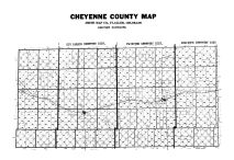 County Map - Cemetery Districts, Cheyenne County 1967